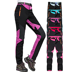 cheap Camping, Hiking & Backpacking-Women's Hiking Pants Trousers Softshell Pants Winter Outdoor Thermal Warm Windproof Breathable Stretchy Fleece Softshell Pants / Trousers Bottoms Blue Purple Red Fuchsia Light Blue Camping / Hiking