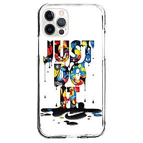 billiga iPhone-fodral-Mode Bokstav Fall För Äpple iPhone 12 iPhone 11 iPhone 12 Pro Max Unik design Skyddsfodral Stötsäker Skal TPU