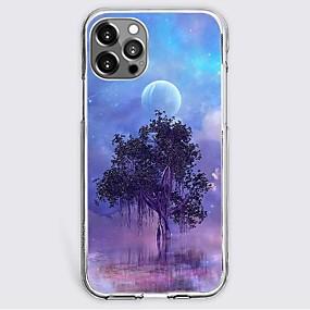 abordables Estuches y Cubiertas-Árbol Moda Caso por Apple iPhone 12 iPhone 11 iPhone 12 Pro Max Diseño unico Estuche protector Antigolpes Funda Trasera TPU