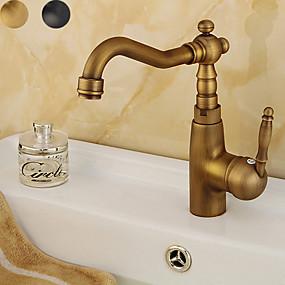 cheap Kitchen-Kitchen faucet - Single Handle One Hole Antique Copper / Electroplated Standard Spout Centerset Contemporary / Antique Kitchen Taps