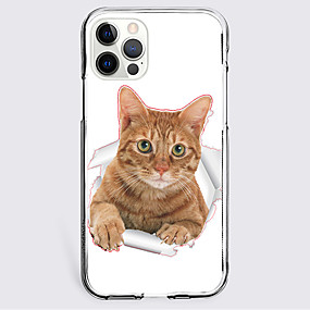 cheap Cases & Covers-Lovely Cat Case For Apple iPhone 12 iPhone 11 iPhone 12 Pro Max Unique Design Protective Case Shockproof Back Cover TPU