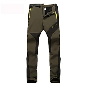 cheap Camping, Hiking & Backpacking-Women's Hiking Pants Trousers Softshell Pants Winter Outdoor Thermal Warm Windproof Breathable Sweat-Wicking Wool Cotton Cargo Pants Bottoms khaki Rose Red Army Green Camping / Hiking Fishing Cycling