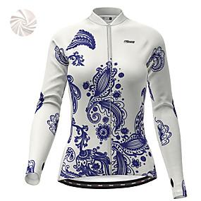 cheap Cycling & Motorcycling-21Grams Women's Long Sleeve Cycling Jacket Winter Fleece Polyester White Dark Blue Bike Jacket Top Mountain Bike MTB Road Bike Cycling Thermal Warm Fleece Lining Breathable Sports Clothing Apparel