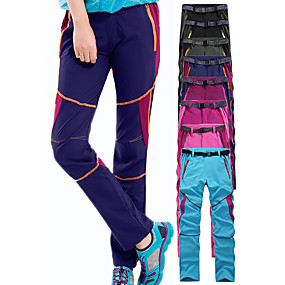 cheap Camping, Hiking & Backpacking-Women's Hiking Pants Trousers Patchwork Summer Outdoor Waterproof Windproof UV Resistant Quick Dry Pants / Trousers Bottoms Pink / Purple Purple Fuchsia Sky Blue Black Camping / Hiking Hunting Ski