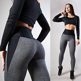 cheap Yoga & Fitness-Women's High Waist Yoga Pants Seamless Tights Leggings Tummy Control Butt Lift Moisture Wicking Blue Pink Gray Fitness Gym Workout Running Summer Sports Activewear Stretchy Skinny