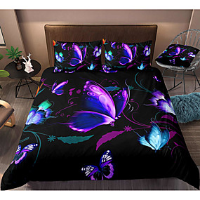 Breathable Comfortable HULI 3 Piece Soft Polyester Luxurious 3D Cartoon Printed Duvet Cover Bedding Set with Zipper Closure for Kid Iron Man, Queen