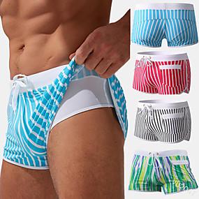 cheap Men-Men's Swim Shorts Swim Trunks Bottoms Quick Dry Swimming Surfing Water Sports Summer
