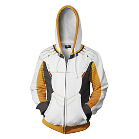 cheap Athleisure Wear-Inspired by Overwatch Coat Terylene Print For Men's / Women's
