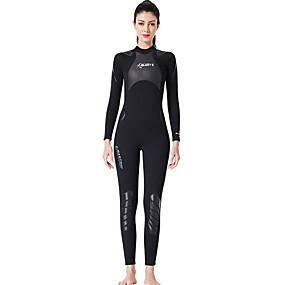 cheap Surfing, Swimming & Diving-Dive&Sail Women's Full Wetsuit 1.5mm SCR Neoprene Diving Suit Thermal Warm Quick Dry Stretchy Long Sleeve Back Zip - Swimming Diving Surfing Scuba Patchwork Autumn / Fall Spring Summer