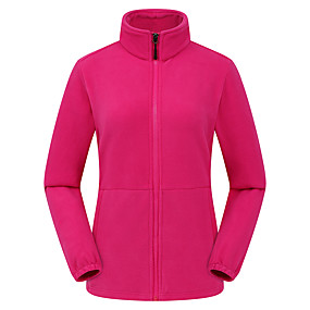 cheap Camping, Hiking & Backpacking-Women's Hiking Fleece Jacket Autumn / Fall Winter Spring Outdoor Thermal Warm Windproof Warm Breathable Winter Fleece Jacket Fleece Climbing Camping / Hiking / Caving Traveling Lake blue Violet Black