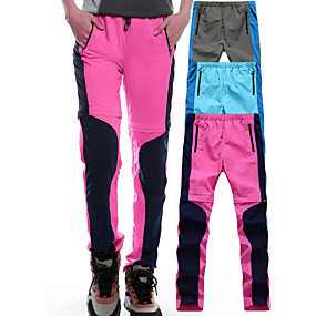 cheap Camping, Hiking & Backpacking-Women's Hiking Pants Convertible Pants / Zip Off Pants Outdoor Lightweight UV Resistant Breathable Quick Dry Autumn / Fall Spring Summer Elastane Pants / Trousers Hiking Climbing Outdoor Exercise
