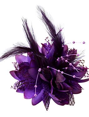 preiswerte Unter 9.9-Krystall / Feder / Stoff Tiaras / Fascinatoren / Blumen mit 1 Hochzeit / Besondere Anlässe / Party / Abend Kopfschmuck