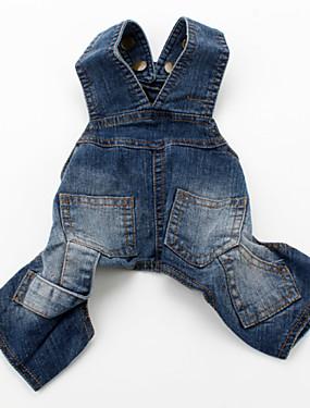 cheap Toys & Hobbies-Dog Pants Dog Clothes Blue Costume Denim Jeans Cowboy Fashion XS S M L XL XXL