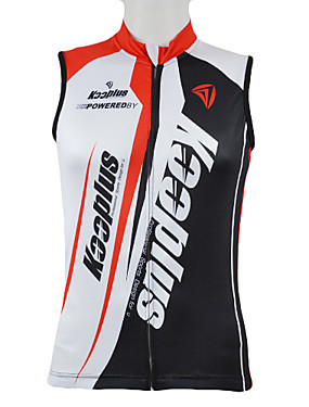 cheap Sports & Outdoors-Kooplus Men's Sleeveless Cycling Jersey Red Blue Patchwork Bike Vest / Gilet Jersey Top Mountain Bike MTB Road Bike Cycling Breathable Quick Dry Sports Clothing Apparel