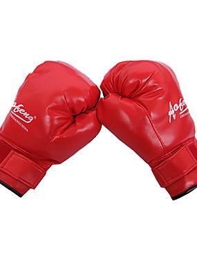 cheap Sports & Outdoors-Boxing Bag Gloves Boxing Training Gloves Grappling MMA Gloves For Taekwondo Boxing Karate Martial Arts Full Finger Gloves Adjustable Breathable Wearproof PU(Polyurethane) Men's Women's - Black Red