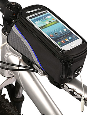 cheap Sports & Outdoors-ROSWHEEL Cell Phone Bag Bike Frame Bag Top Tube Waterproof Reflective Strips Bike Bag Polyester PVC(PolyVinyl Chloride) Bicycle Bag Cycle Bag iPhone 5C / iPhone 4/4S / Iphone 5/5S Cycling / Bike