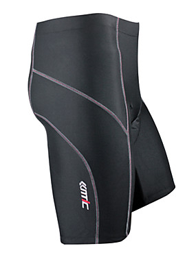 cheap Sports & Outdoors-SANTIC Men's Cycling Padded Shorts Bike Shorts Pants / Trousers Pants Breathable Quick Dry Sports Solid Color Spandex Black Mountain Bike MTB Road Bike Cycling Clothing Apparel Advanced Semi-Form Fit