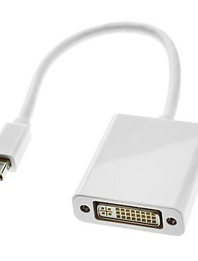preiswerte DisplayPort Kabel & Adapter-0,3 m 1 ft Blitz-Stecker auf DVI 24 +5 Buchse Kabel weiß für MacBook Air / MacBook Pro / iMac / mac mini