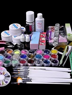 preiswerte Nail Clearance-61 Stück Glitter UV Gel Reiniger Primer Nail-Art-Kit-Set