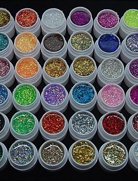 preiswerte Nail Clearance-Nagellack UV Gel 8ml 36pcs Glitzer / UV-Farbgel / Schimmernd Langlebige Aufsaugeigenschaften Glitzer / UV-Farbgel / Schimmernd
