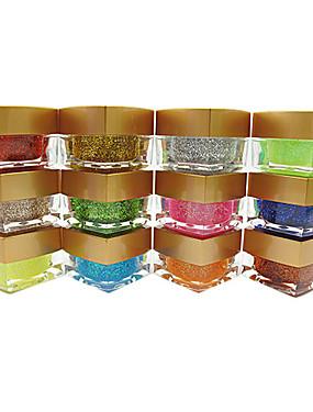 preiswerte Nail Clearance-Nagellack UV Gel 8 ml 12 pcs Glitzer / UV-Farbgel Langlebige Aufsaugeigenschaften Glitzer / UV-Farbgel