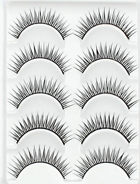 cheap Discount Makeup-Eyelash Extensions False Eyelashes 10 pcs Volumized Natural Curly Fiber Daily Natural Long - Makeup Daily Makeup Cosmetic Grooming Supplies