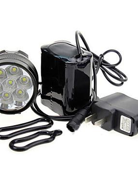 povoljno glava svjetiljke-LED Svjetla za bicikle Stražnje svjetlo za bicikl sigurnosna svjetla Cree® XM-L T6 Brdski biciklizam Bicikl Biciklizam Vodootporno Prijenosno Upozorenje Jednostavna primjena 18650 7000 lm Baterija