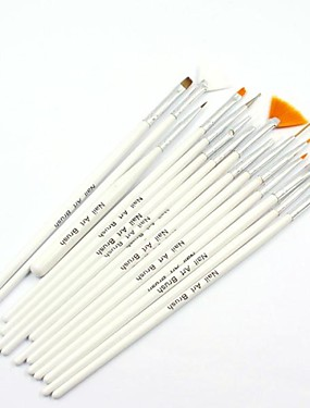 levne Štětečky na nehty-15ks nail art painting brush sady nehtů uv gel pero štětec