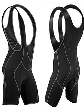 cheap Sports & Outdoors-WOLFBIKE Men's Cycling Bib Shorts Bike Shorts Bib Shorts Tights Breathable Quick Dry Sports Solid Color Polyester Spandex Coolmax® Black Mountain Bike MTB Road Bike Cycling Clothing Apparel Advanced