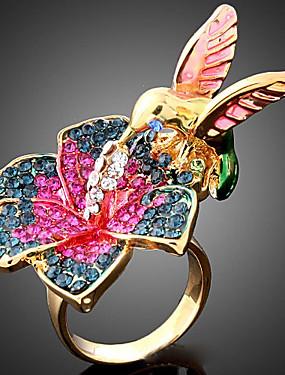 billige Fashion Rings-Dame Statement Ring Kubisk Zirkonium Skjermfarge Kubisk Zirkonium Legering damer Mote Fest Smykker Fugl Dyr