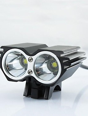 povoljno glava svjetiljke-LS053 Prednje svjetlo za bicikl LED 1800lm s punjačem Otporan na udarce / Može se puniti / Vodootporno Kampiranje / planinarenje /