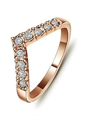 billige Fashion Rings-Dame Statement Ring tommelfingerring Krystall Sølv Gylden Krystall Gullbelagt damer Uvanlig Unikt design Bryllup Fest Smykker Kjærlighed