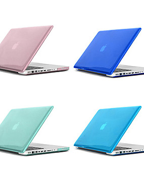 cheap Computer & Office Clearance-MacBook Case Solid Colored / Transparent Plastic for Macbook Pro 13-inch / Macbook Pro 15-inch