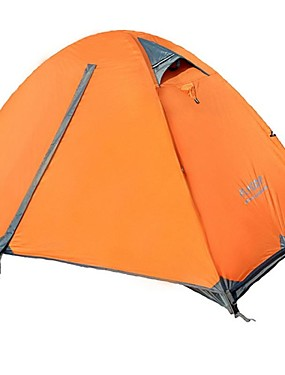 cheap Sports & Outdoors-FLYTOP 1 person Tent Outdoor Waterproof Windproof Rain Waterproof Double Layered Poled Dome Camping Tent >3000 mm for Fishing Hiking Camping Oxford 180*210*100 cm