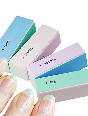 voordelige Nagelvijlen & Buffers-1pcs 4-weg multi-color nail art polijsten blok schuren bestanden