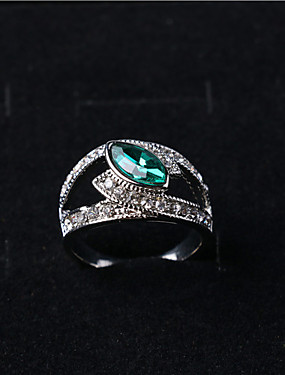 cheap Fashion Rings-Women's Statement Ring Black Red Green Alloy Ladies Fashion Party Daily Jewelry Marquise Cut / Multi-stone