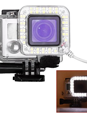 cheap Sports & Outdoors-Protective Case USB LED For Action Camera Gopro 6 Gopro 5 Gopro 4 Gopro 4 Silver Gopro 4 Black Plastic / Gopro 3 / Gopro 3+ / Gopro 3/2/1 / Gopro 3 / Gopro 3+