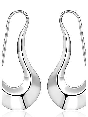 preiswerte LUREME®-Damen Tropfen-Ohrringe damas Personalisiert Einfach Modisch Small Sterling Silber versilbert Silber Ohrringe Schmuck Silber Für Hochzeit Party Alltag Normal