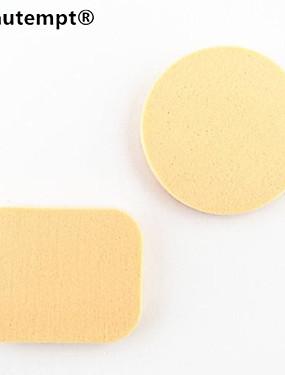 preiswerte Make-up-Schwämme-2 pcs Latex-frei Nicht-allergene Can Be Wet & Dry Gebraucht Puderquasten Makeup Schwämme Für Puder Cream Flüssigkeit Klassisch Alltag Beauty Tools Blende