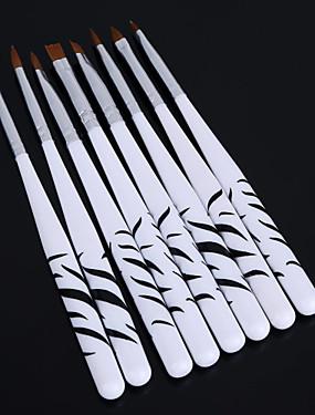 levne tečkování nástroje-8ks zebra nail art tečkování manikúra malba kresba polština štětce nástrojů pero