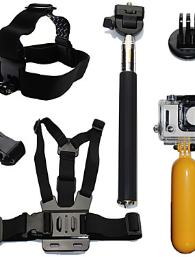 cheap Sports & Outdoors-Accessory Kit For Gopro Floating Hand Grip Waterproof Floating 6 pcs 1039 Action Camera Gopro 6 Gopro 5 Xiaomi Camera Gopro 4 Gopro 4 Session Diving Surfing Ski / Snowboard Plastic Fiber Carbon