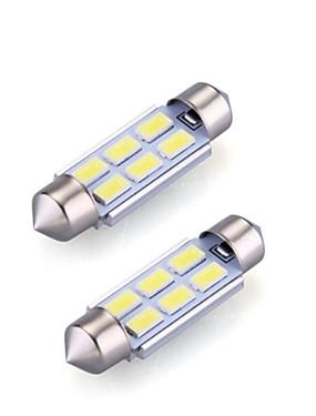 preiswerte Automobil-2pcs 36mm Auto Leuchtbirnen 2 W SMD 5730 120 lm 6 LED Innenbeleuchtung Für