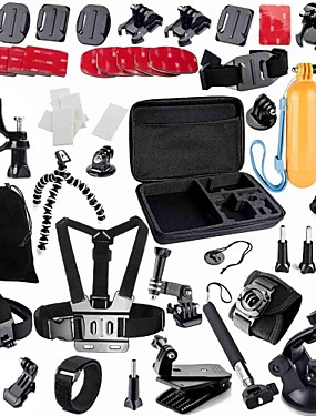 cheap Sports & Outdoors-Accessory Kit For Gopro Waterproof 49 in 1 Adjustable For Action Camera Gopro 5 Xiaomi Camera Gopro 4 Gopro 3 Gopro 2 Diving Surfing Ski / Snowboard PVC(PolyVinyl Chloride) Velcro EVA / Gopro 1