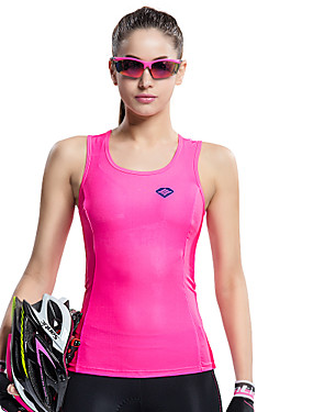cheap Sports & Outdoors-SANTIC Women's Sleeveless Sports Tank Top - Pink Bike Vest / Gilet / Jersey, Breathable, Quick Dry, Ultraviolet Resistant Solid Colored / High Elasticity / Advanced Sewing Techniques