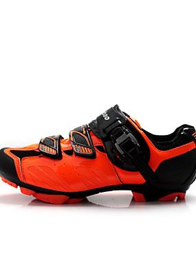 cheap Sports & Outdoors-Tiebao® Mountain Bike Shoes Nylon Waterproof Breathable Anti-Slip Cycling Black Orange Red Men's Cycling Shoes / Cushioning / Ventilation / Synthetic Microfiber PU / Cushioning / Ventilation