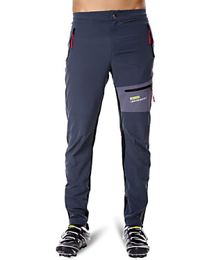 cheap Sports & Outdoors-Acacia Men's Women's Cycling Pants Bike Pants / Trousers Pants Bottoms Breathable Quick Dry Reflective Strips Sports Cotton Spandex Elastane Gray Road Bike Cycling Clothing Apparel Relaxed Fit Bike
