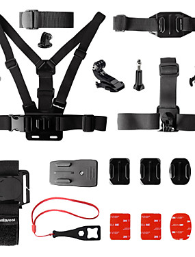 cheap Sports & Outdoors-Chest Harness Front Mounting Wrist Strap All in One 15 pcs For Action Camera Gopro 6 Gopro 5 Xiaomi Camera Gopro 4 Gopro 4 Silver Surfing Ski / Snowboard Universal / Gopro 2 / Gopro 3 / Gopro 3+