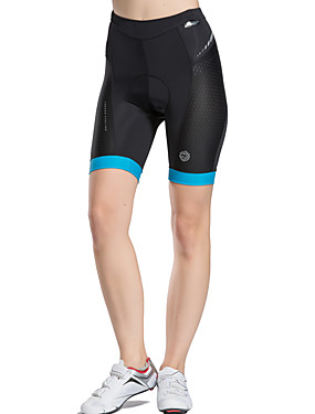 cheap Sports & Outdoors-TASDAN Women's Cycling Padded Shorts Bike Shorts Underwear Shorts Padded Shorts / Chamois Breathable Quick Dry Reflective Strips Sports Solid Color Coolmax® Elastane Blue / Pink Road Bike Cycling