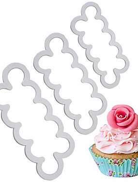 preiswerte Waagen-3 Stück Kunststoff Backen-Werkzeug Kuchen Plätzchen Back- und Gebäckwerkzeug Backwerkzeuge