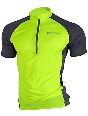 cheap Sports & Outdoors-Nuckily Men's Short Sleeve Cycling Jersey Mesh Red Blue Grey Bike Jersey Top Mountain Bike MTB Road Bike Cycling Breathable Quick Dry Moisture Wicking Sports Clothing Apparel / High Elasticity